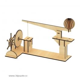 پازل سه بعدی متحرک ماشین مرکب